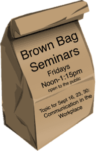 Brown bag with info